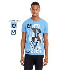 New Armani Exchange Mens Muscle Slim Fit Abstract Logo Tee Shirt h6x854