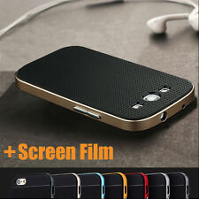 Luxury Hybrid 2 in 1 Silicone+PC Frame Armor Case For Samsung Galaxy S3 I9300