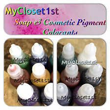 Soap Colorants GET 2 Liquid Melt & Pour Soap Samples MP Cosmetic Color Dye .5 mL