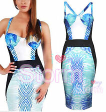 LADIES WOMENS CELEBRITY TOWIE PADDED BUST BODYCON STRAP DRESS UK SIZE 8 10 12 14