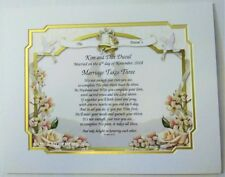 PERSONALIZED NAME MEANING/POEM WEDDING OR ANNIVERSARY GIFTS **8 TO CHOOSE FROM**