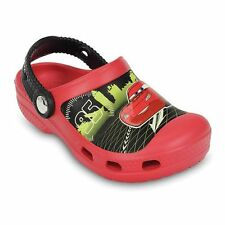 New Crocs DISNEY CARS LIGHTNING MCQUEEN Clog Glow-in-the-Dark 8/9 10/11 12/13 J2