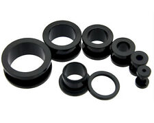 Acrylic Ear Tunnel Screw Fit Plug, Plastic Flesh Tunnel 2-24mm Black