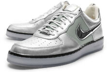 Nike Air Force 1 Downtown Metallic Silver Mens Basketball Shoes 579962-002