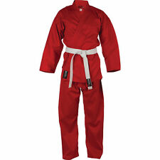 Blitz Adult Polycotton Red Karate Suit Uniform GI with FREE Belt....