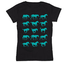 Wild Horses Equestrian Horseback Country Riding Western Novelty - Womens T-Shirt