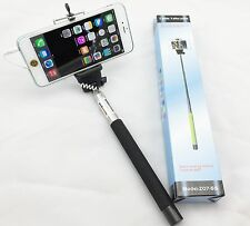 Extendable Selfie Wired Stick Phone Holder Remote Shutter Monopod For Cellphone