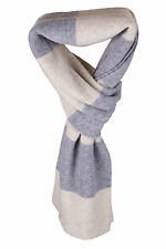 Ladies 100% Cashmere Scarf - 'Natural/Light Grey' - made in Scotland RRP £180