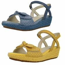 Girls Clarks Summer Wedge Sandals 'Harpy Rita'