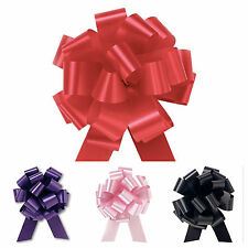 50mm Pull Bow Ribbon Decoration Large Wedding Car Gift Wrap Floristry 20 Colours