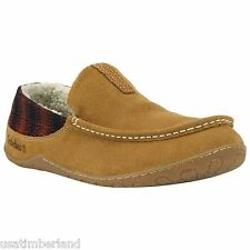 Timberland Men's Kickaround Tan Yellow Suede Moccasin Shoes Mule Slipper #5936A