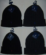 New Mens Polo Ralph Lauren Classics Pony Beanie Lamb's Wool/Nylon One Size