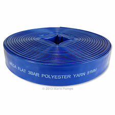 "2"" inch (50 / 51 mm) PVC Layflat Garden Irrigation Water Discharge Hose Pipe"