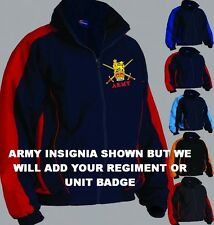 2RTJ NAVY / RED ARMY REGIMENTAL COLOUR ZIP UP TRAINING JACKET HOODY SHIRT HAT