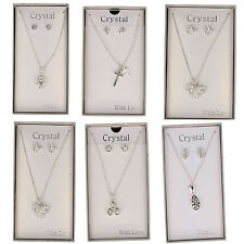 Ladies earring and necklace jewellery sets
