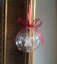Personalised Luxury Glass Christmas bauble gift with angel, Baby 1st Christmas