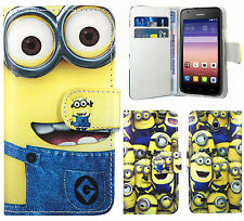Despicable Me 2 Minion PU Leather Wallet Case Cover For Huawei Ascend Y550