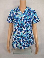 Barco ICU V-neck Scrub Top Print. Style 71163. Blue by You . *New* *Free Ship*