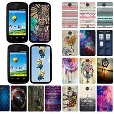 For ZTE Zinger Z667 Prelude 2 Design Snap On Slim Fit Hard Phone Case Cover