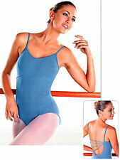 NEW! WOMENS DANCE BALLET LEOTARD WITH DIAGONAL STRAPS. 3 COLORS AVAILABLE (d279)