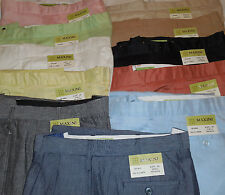 Mens Nice Linen Summer Pants Slacks Nice Relaxed Feel Light Pastel Colors