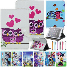 """Universal Cartoon Style Leather Case Cover For 10"""" 10.1"""" Inch Tab Android Tablet"""