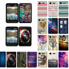For LG Optimus Fuel L34C Design Slim Fit Hard Case Phone Cover