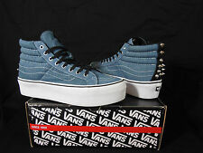 VANS Studded Sk8 Hi Platform Denim Womens Shoes/Sneakers