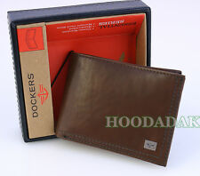 New in a Box DOCKERS Men's Leather Classic Slimold Wallet,  Handcrafted Brown
