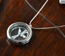 Stainless Steel Living Floating Charm Memory Locket Necklace charms HH-038