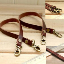 30cmx 1cm k1 Genuine Leather handle Strap Replacement Purse Bag strap clip on