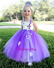 White Embossed Flower Girl Dress Wedding Pageant Party Size 12 months-5 FG256