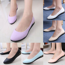 Womens Casual Comfort Slip On Loafers Ballerina Faux Leather Ballets Flats Shoes