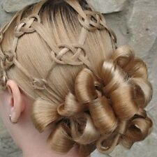 Wedding Hair Curls updo's Spiral and Barrel clip on Curls