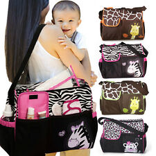 Waterproof Cute Animal Multi Baby Diaper Nappy Changing Bag Shoulder Travel Bag