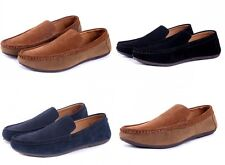 Mens casual Moccasin British slip on Loafer fashion Driving Leather Dress Shoes