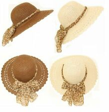 ladies floppy straw hat crushable packable wide brim summer sun  BOUNCES BACK