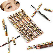 Waterproof Women Brown Black Leopard Makeup Eyebrow Eyeliner Pencil Brush Beauty