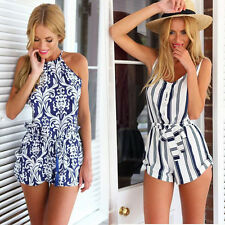 Hot Style Women Lady V Neck Sleeveless Causal Jumpsuit Romper Trouser Clubwear