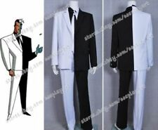Batman Cosplay Two Face Man Costume Black And White Uniform Suit Halloween Cool