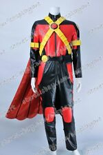 Young Justice Cosplay Red Robin Tim Drake Costume Leather Uniform Full Set Cool