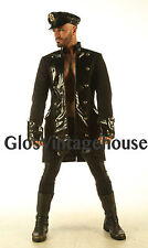 Military style Black cotton coat Vintage pirate dress top Victorian jacket