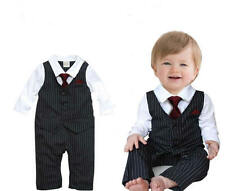 1pc Kid Baby Boy Newborn Bowknot Outfit Romper Clothing Set 0-24 Months
