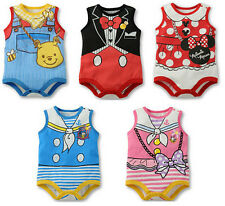 Cute Baby Boy/Girl Cartoon romper Short sleeves Infants one-piece bodysuit AU