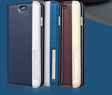 """Genuine Leather Flip Case Cover Shell For Apple iPhone 6 4.7"""" Plus 5.5' Eternal"""