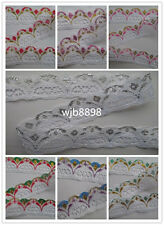 Wholesale colored lace 3 cm wide variety of colors to choose 10-100 yards