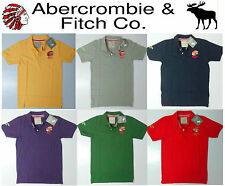New A&F Red Indian Chief 2015 Mens/Boy Cotton Collar Polo Tee T-Shirt S M L XL