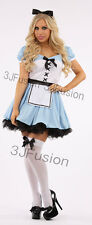 Ladies ALICE IN WONDERLAND Fairytale Character Fancy Dress Costume Outfit