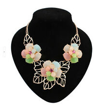 NEW! Fashion delicate and sweet flower temperament charm necklace(5color)