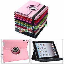 "Latest Leather 360 Degree Rotating Stand Case  Cover For Apple iPad 9.7"" 4 3 2"